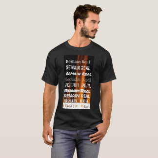 Remain Real Montage Shirt, Black T-Shirt