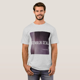 Remain Real White and Purple T-shirt