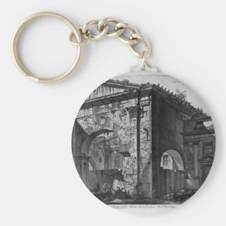 Remains of a covered porch, or cryptoporticus basic round button keychain