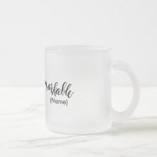 Remarkable Custom 10 Oz Frosted Glass Coffee Mug