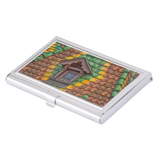 Remarkable roofing in the center of Obernai Business Card Holder