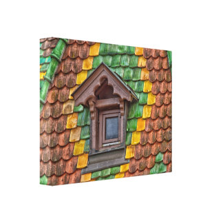 Remarkable roofing in the center of Obernai Canvas Print