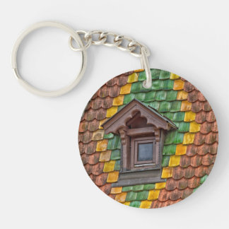 Remarkable roofing in the center of Obernai Keychain