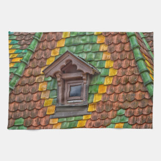 Remarkable roofing in the center of Obernai Kitchen Towel