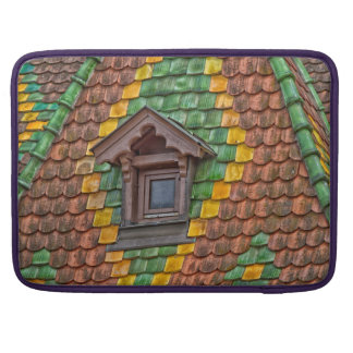 Remarkable roofing in the center of Obernai MacBook Pro Sleeve
