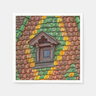 Remarkable roofing in the center of Obernai Paper Napkins