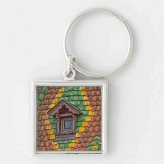 Remarkable roofing in the center of Obernai Silver-Colored Square Keychain