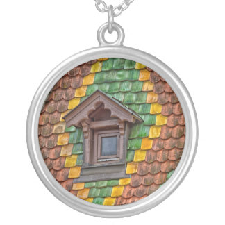 Remarkable roofing in the center of Obernai Silver Plated Necklace