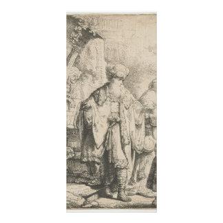Rembrandt Abraham Dismissing Hagar Rack Card