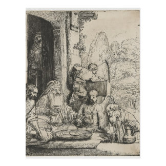 Rembrandt: Abraham Entertaining the Angels Post Cards