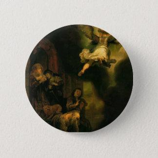 Rembrandt- Archangel Raphael Taking Leave 2 Inch Round Button