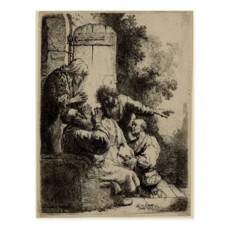 Rembrandt Art Painting and etching Postcard