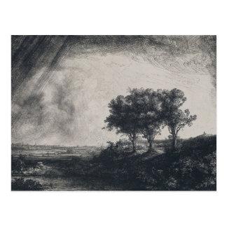 Rembrandt Art Painting Landscape Postcards