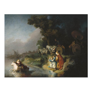 Rembrandt Art Painting Rape of Europe Post Card