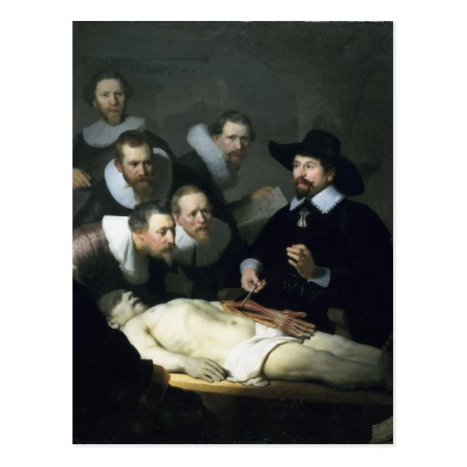 Rembrandt Art Painting The Anatomy Lesson Post Cards