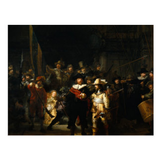 Rembrandt Art Painting The Nightwatch Postcards