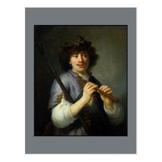 Rembrandt as Shepherd by Govert Flinck Post Cards
