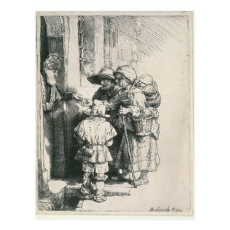Rembrandt: Beggars on the Doorstep of a House Postcards