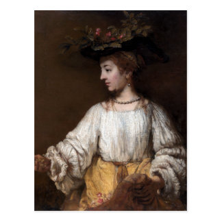 Rembrandt Flora Postcard