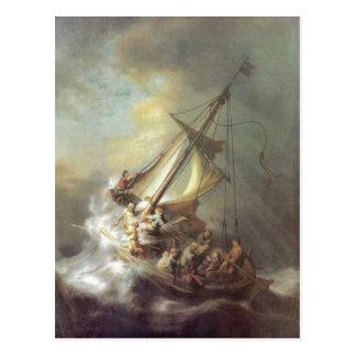 Rembrandt Harmensz van Rijn Christus im Sturm auf Post Cards