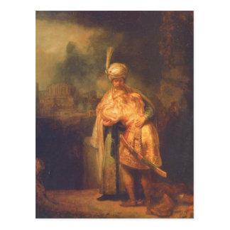 Rembrandt Harmensz. van Rijn Davids Abschied von J Postcard