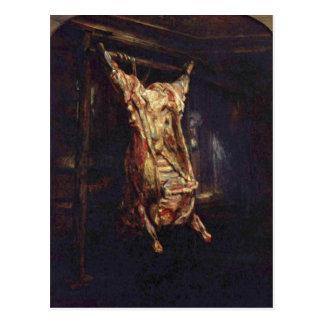 Rembrandt Harmensz. van Rijn Geschlachteter Ochse  Postcard