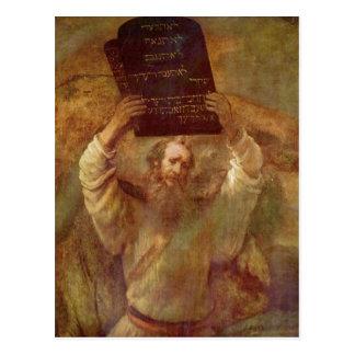 Rembrandt Harmensz. van Rijn Moses mit den Gesetze Postcard