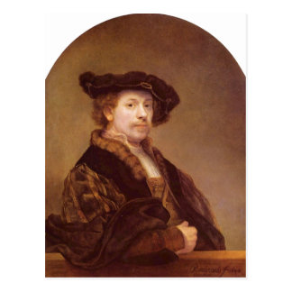 Rembrandt Harmensz. van Rijn Selbstportr?t 1640 Te Postcard