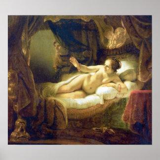 Rembrandt Harmenszoon van Rijn - Danae Poster