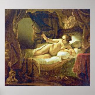 Rembrandt Harmenszoon van Rijn - Danae Posters