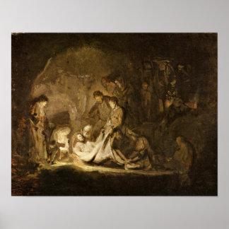 Rembrandt Harmenszoon van Rijn - Entombment Poster