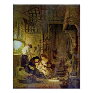 Rembrandt Harmenszoon van Rijn - Holy Family Poster