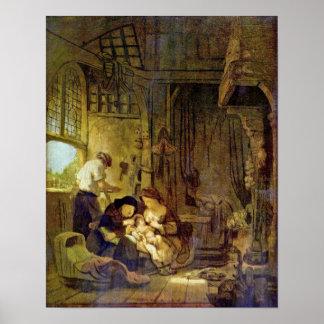 Rembrandt Harmenszoon van Rijn - Holy Family Poster