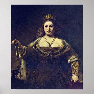 Rembrandt Harmenszoon van Rijn - Juno Print