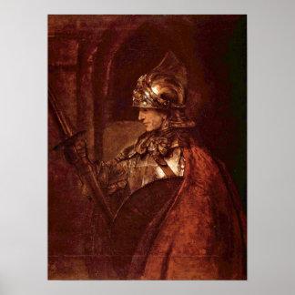 Rembrandt Harmenszoon van Rijn - Moses Poster