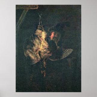 Rembrandt Harmenszoon van Rijn - Self-portrait Print