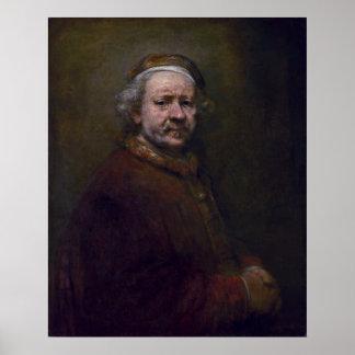 Rembrandt Harmenszoon van Rijn - Self-portrait Poster
