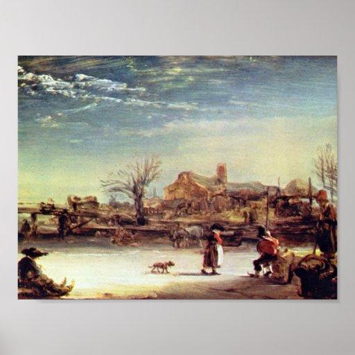 Rembrandt Harmenszoon van Rijn - Winter Print