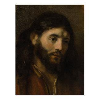 Rembrandt Head of Christ  CC0923 Jesus portraits Postcard