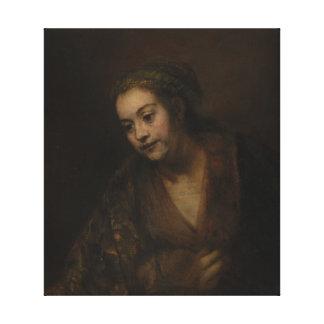 Rembrandt Hendrickje Stoffels Canvas Print
