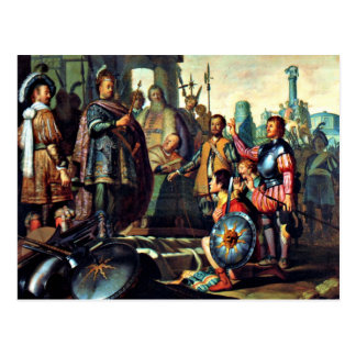 Rembrandt History Painting 1626 artwork Postcards