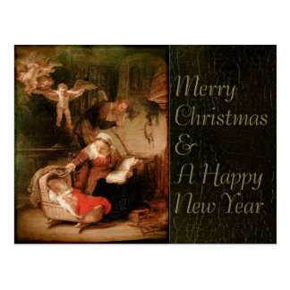 Rembrandt Holy Family CC0289 Christmas Postcard