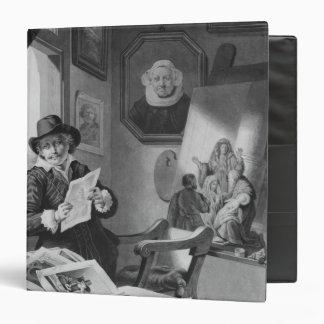 Rembrandt in his studio vinyl binders