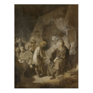 Rembrandt Joseph telling his dreams Post Card