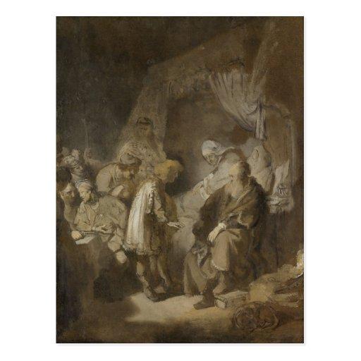 Rembrandt, Joseph telling his dreams Post Card