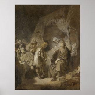 Rembrandt, Joseph telling his dreams Poster