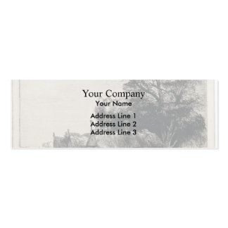 Rembrandt Landscape with Three Huts Business Card Templates