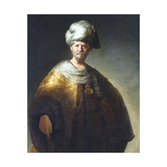 Rembrandt Man in Oriental Costume Canvas Print