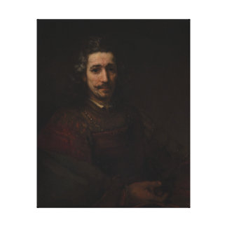 Rembrandt Man with a Magnifying Glass Canvas Print