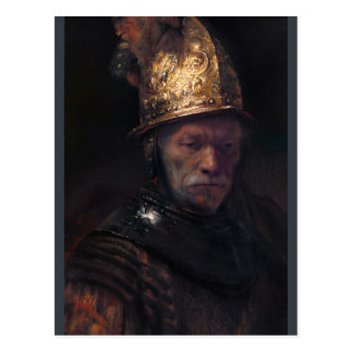 Rembrandt Man with the golden helmet ca 1650 Postcard